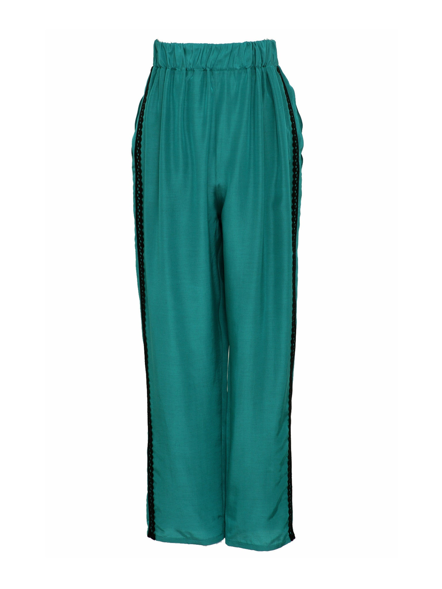 Silk Blend Baggy Pants