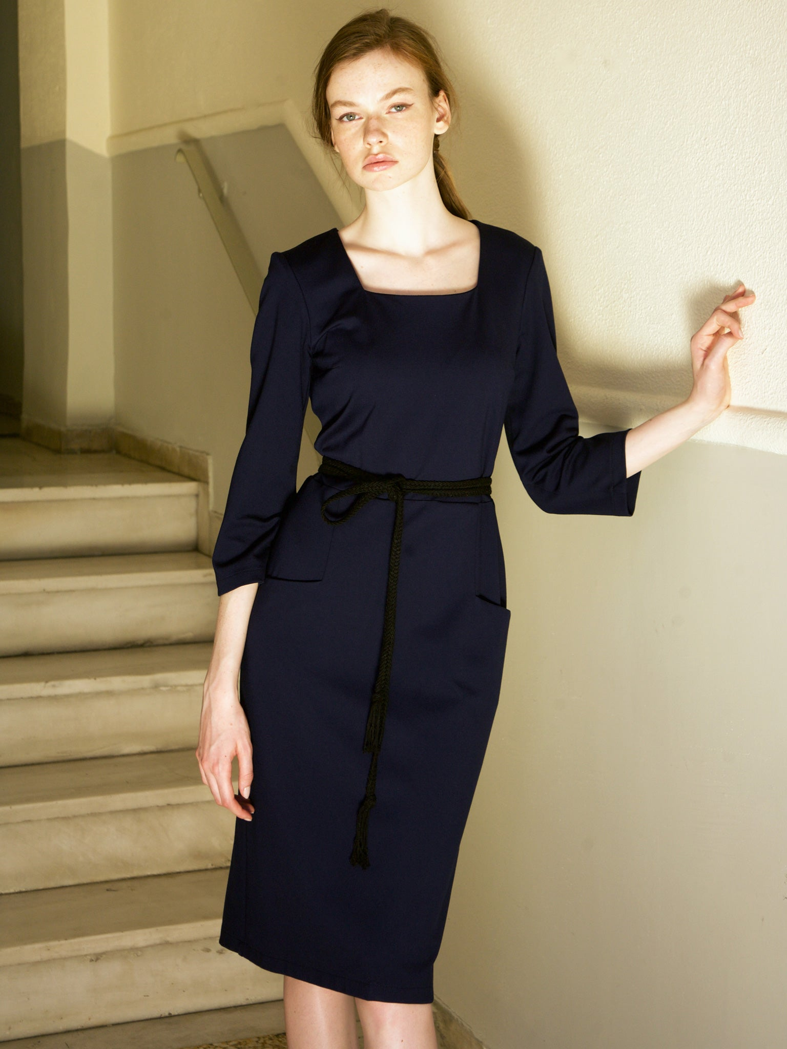 Smart Navy Office Dress
