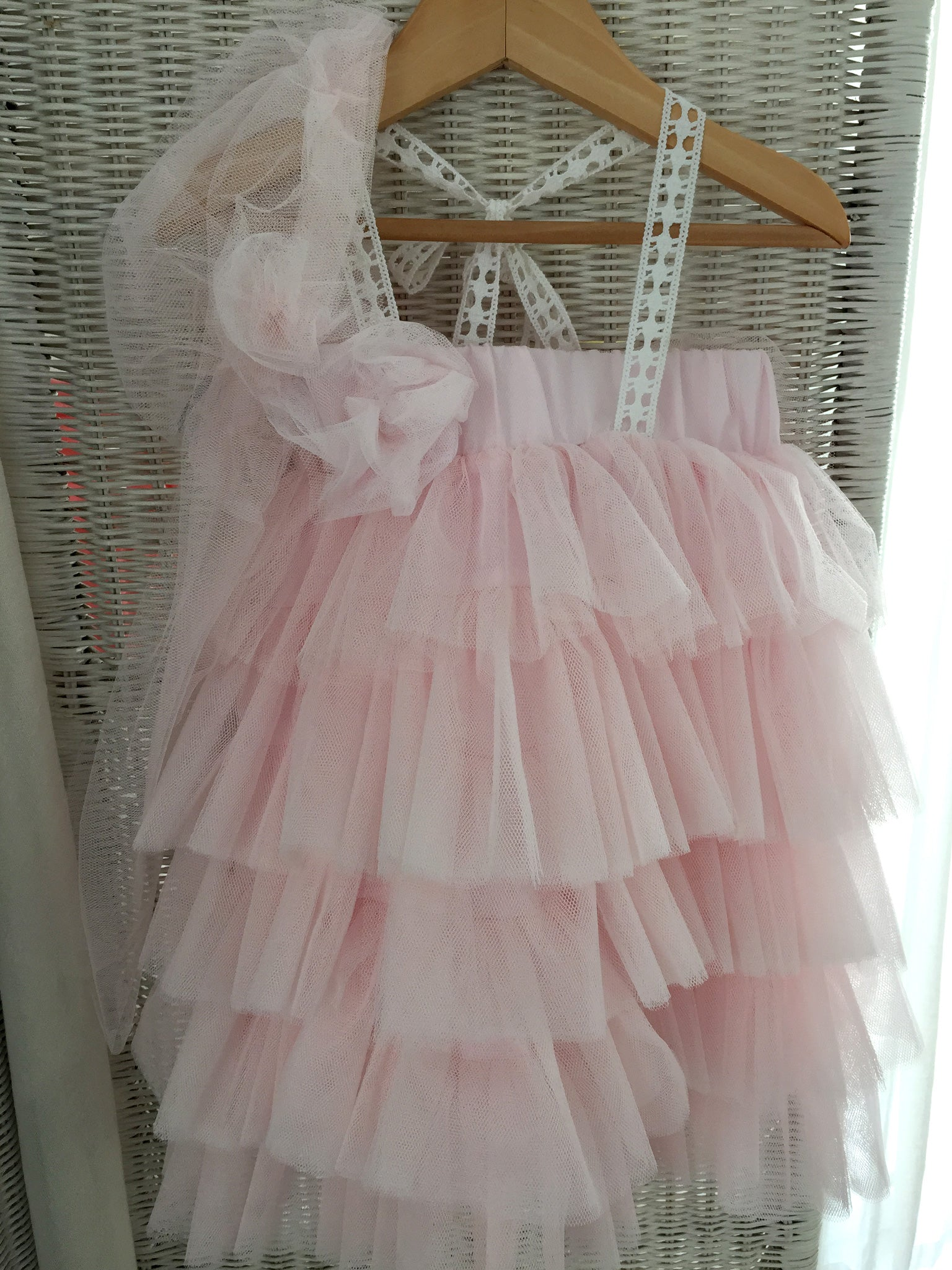 Baby Pink Layered Tulle Dress