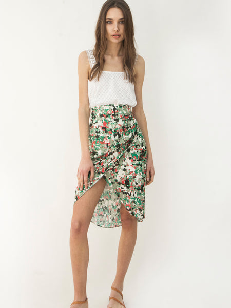 Sweet Camouflage Wrap Skirt