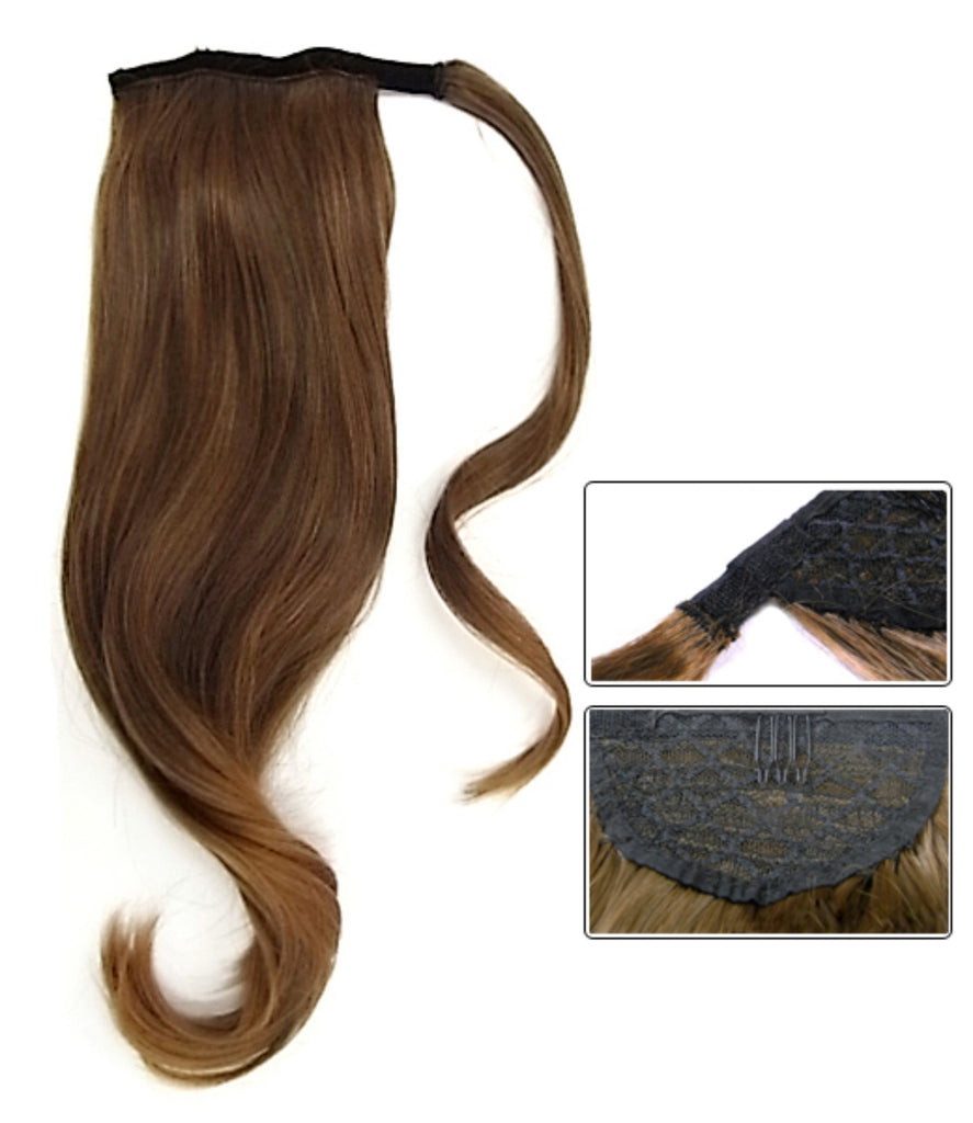 "ponytails 16""human virgin hair"