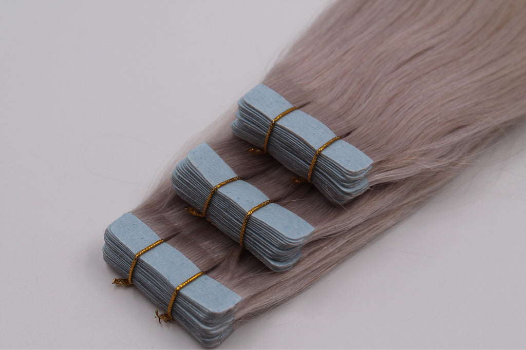 "Tape in extensions 22"" single drawn money savers (20 piecies per pack) virgin hair"