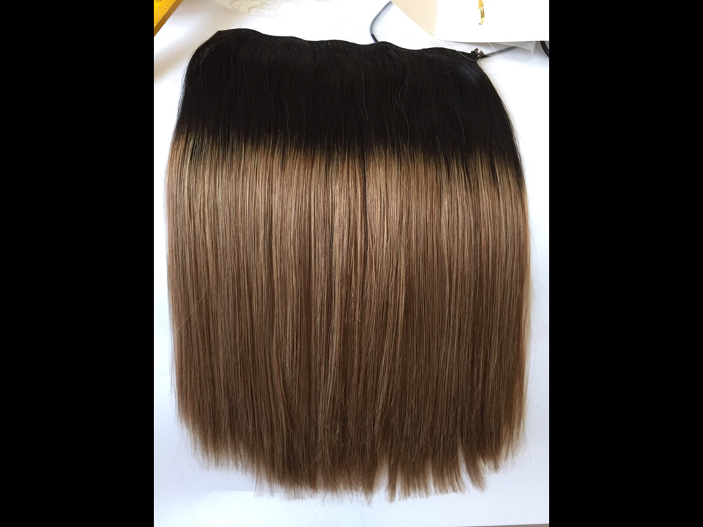 "A halo of hair 18"" human virgin hair"