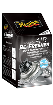 Meguiars Whole Car Air Re-Fresher Odor Eliminator - Black Chrome Scent