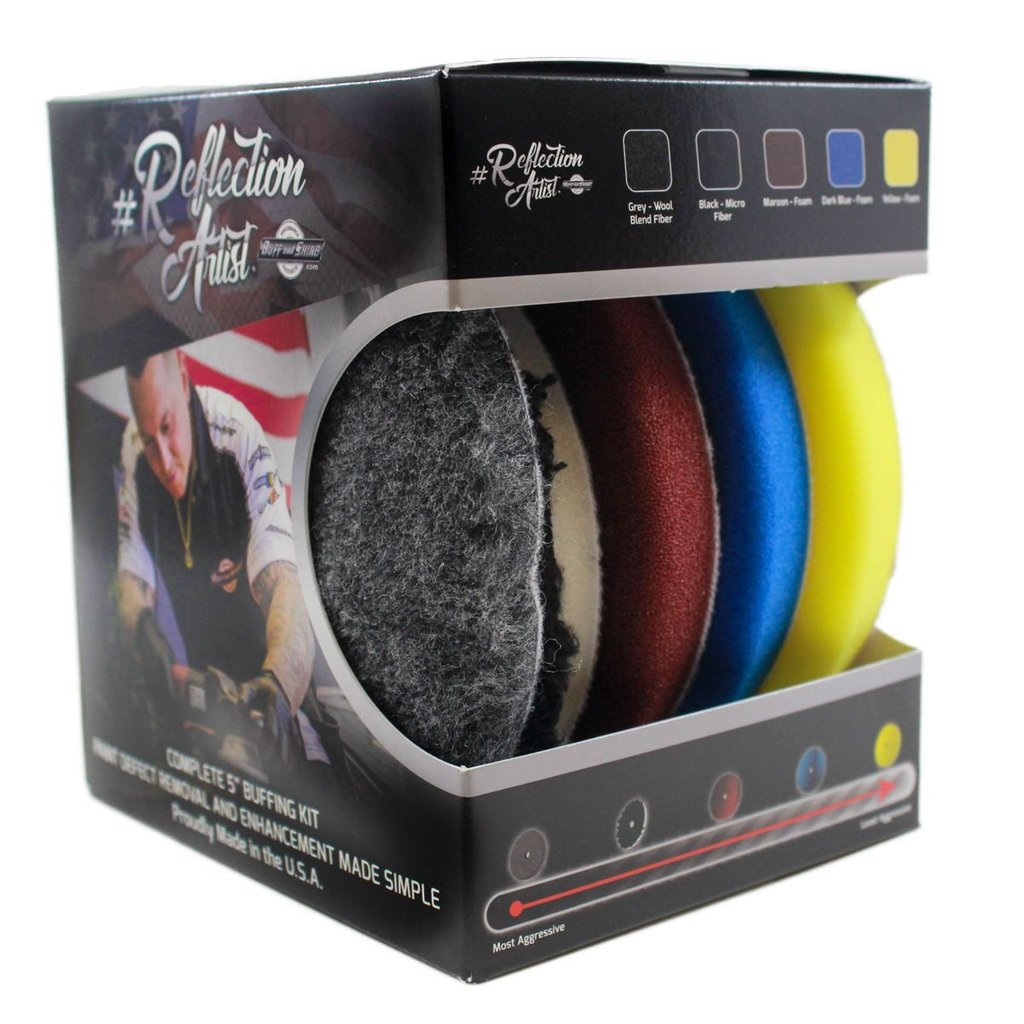 Buff and Shine Reflection Artist Polishing Pad Set (5 inch)