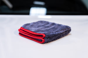 Korean Microfibre - Red Silk (Ultra Plush 600GSM) Microfibre Cloth