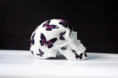 NOON - Skull Purple Butterfly (Porcelain)