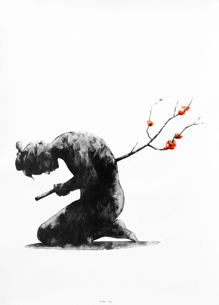 Pejac - Seppuku Hand-Finished Screenprint Print - Spanish Street Artist