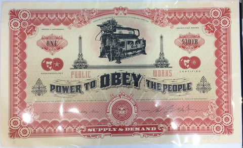 Shepard Fairey - Two Sides Of Capitalism (Good / Bad) - Rare Large Format Prints!