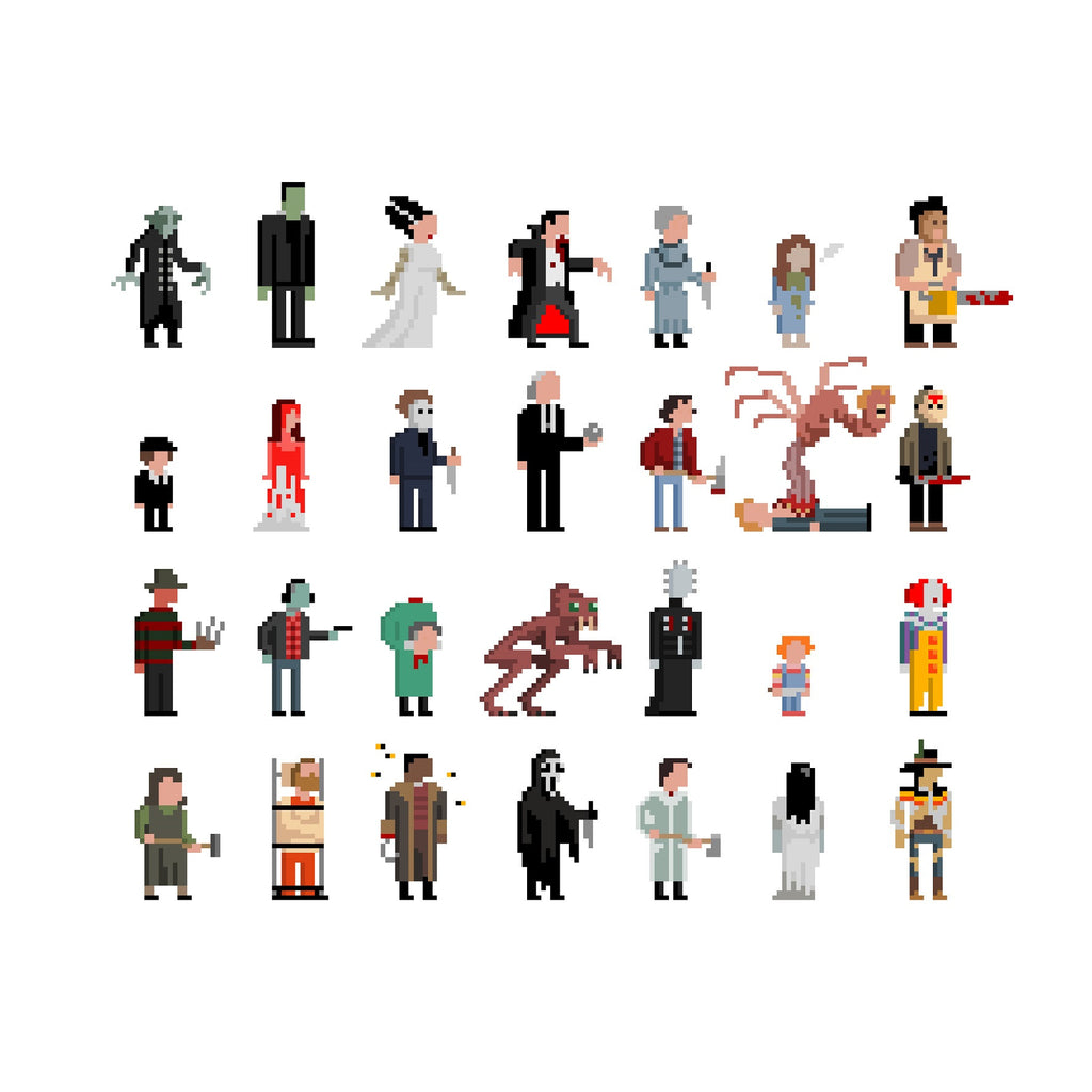 30 Squared - Icons Of Horror - Jim'll Paint It Print