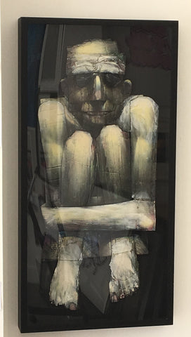 Adam Neate - Boxed In (Original Framed Painting)