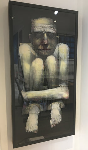 Adam Neate - Boxed In (Original Framed Cardboard Painting) - Elms Lesters