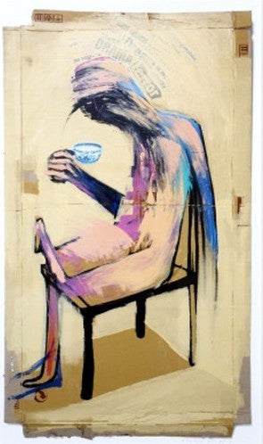 Adam Neate - The Tea Drinker - Signed Giclee Print Elms Lesters