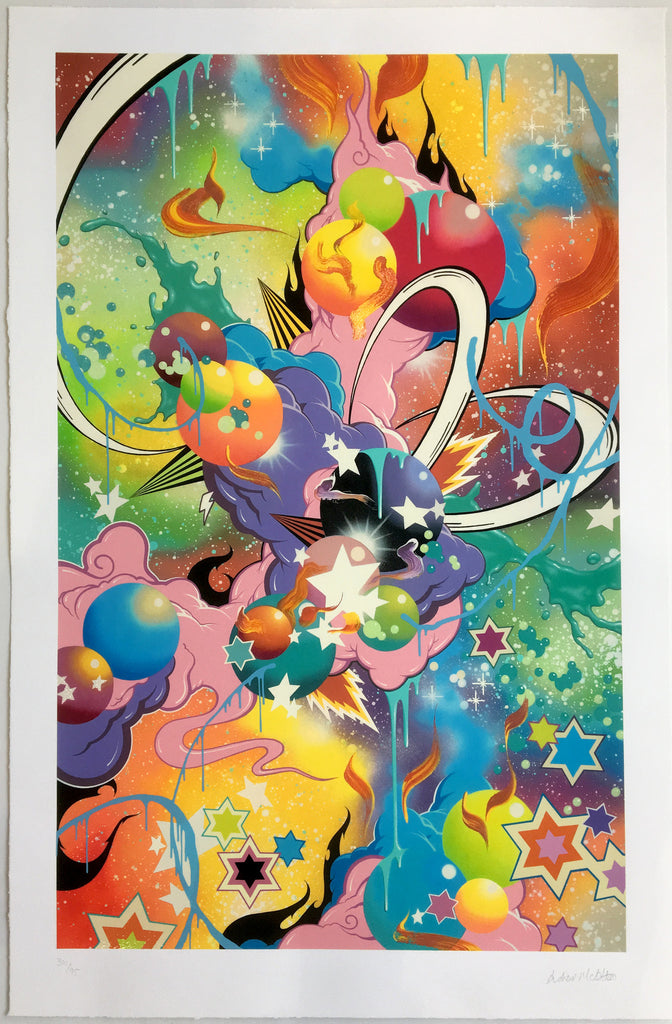 Andrew Mcattee - Genie's Out - Rare Signed giclee print