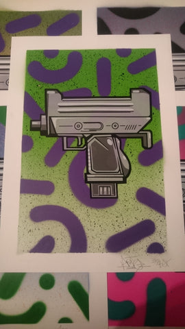 Aroe MSK - Ghost Uzi Patrol Screenprint #33