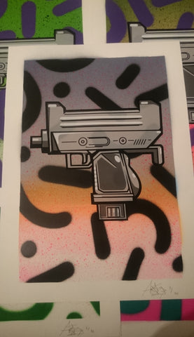 Aroe MSK - Ghost Uzi Patrol Screenprint #5