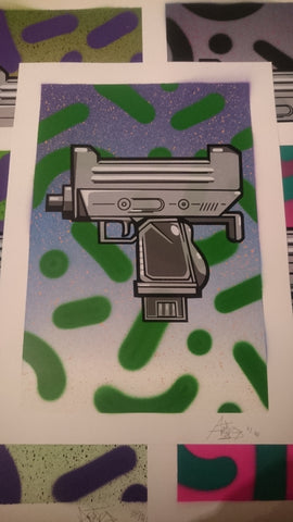 Aroe MSK - Ghost Uzi Patrol Screenprint #6