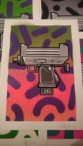 Aroe MSK - Ghost Uzi Patrol Screenprint #7