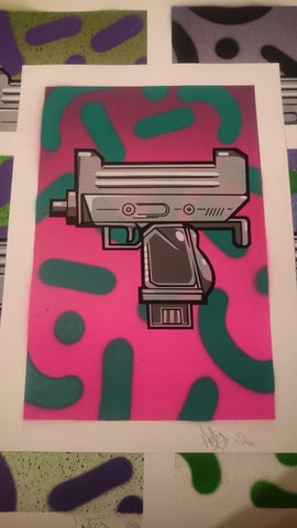 Aroe MSK - Ghost Uzi Patrol Screenprint #9