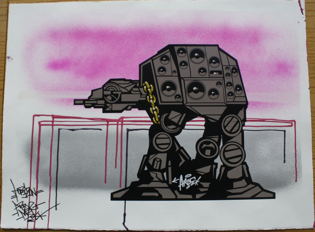 Aroe MSK - Star Wars At-At Graffiti Print