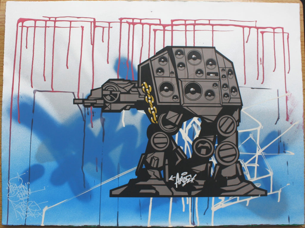 Aroe - At-At Signed MSK Graffiti Print