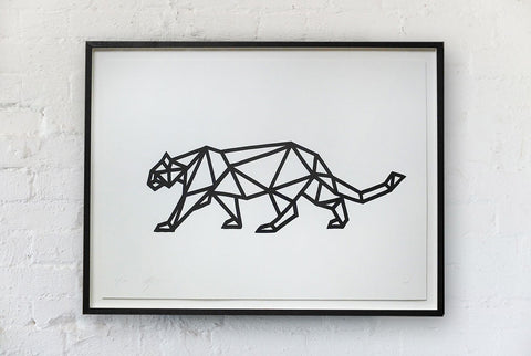 Arran Gregory - Geo Leopard Left Signed Print / Screenprint