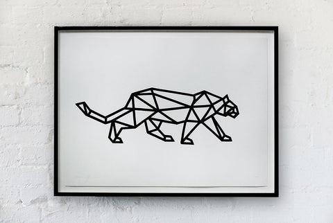 Arran Gregory - Geo Leopard Right Signed Print / Screenprint
