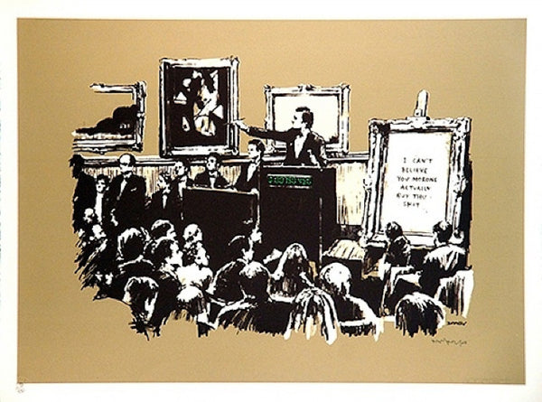 Banksy Sepia Morons - Signed Screenprint with COA