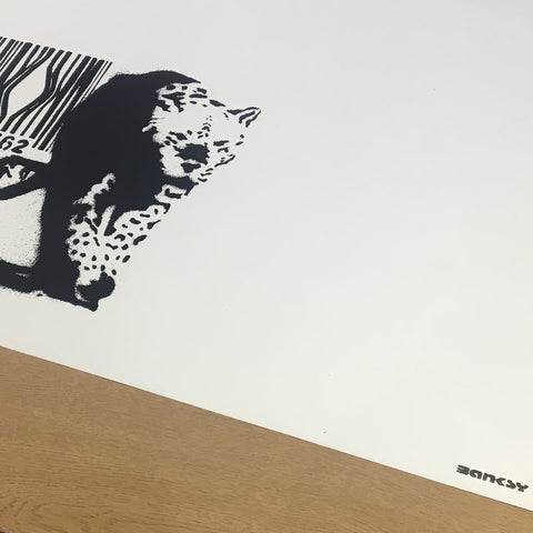 Banksy - Barcode (Unsigned - with rare BLACK 'Banksy' Stamp)