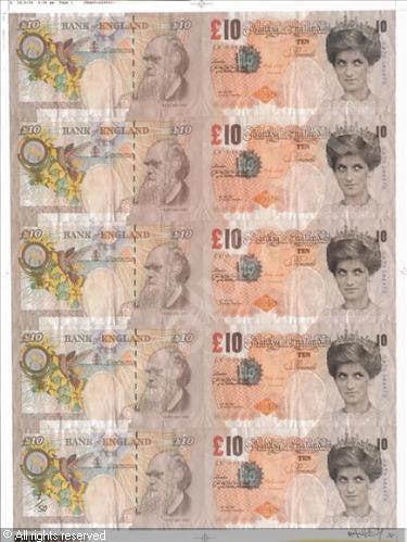 Banksy - Di-Faced Tenners - Signed Print