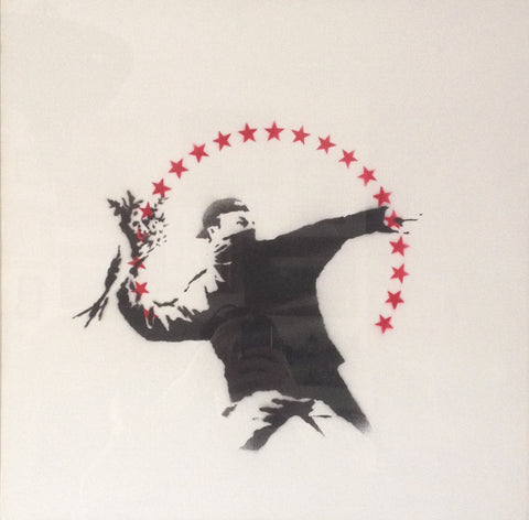 Banksy - Flower Thrower / Love Is In The Air (Original Canvas)