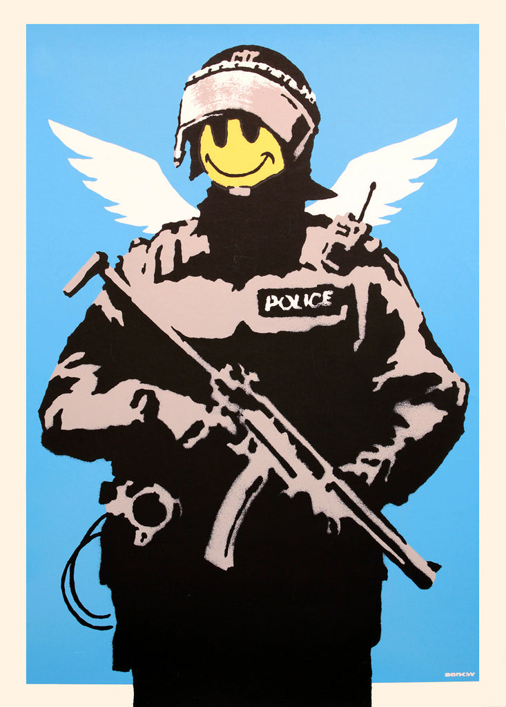 Banksy - Flying Copper - Unsigned Screenprint with COA