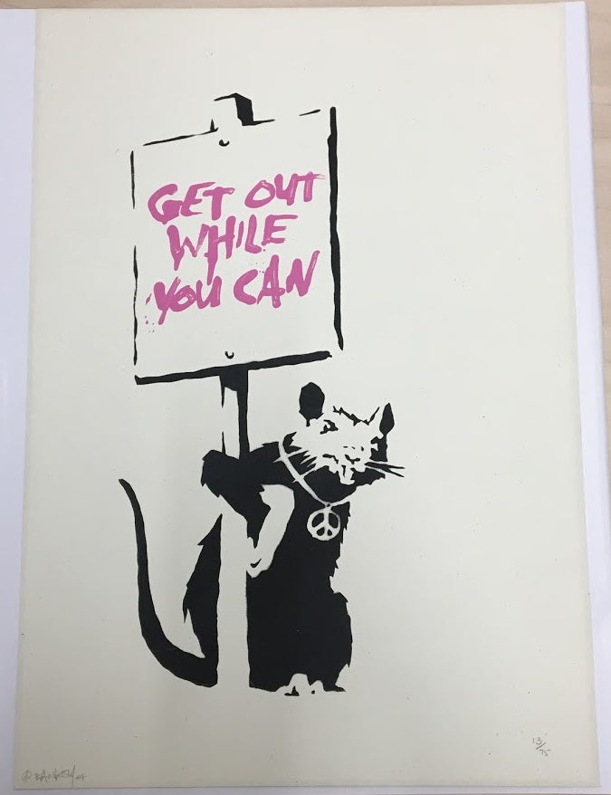 Banksy - Get Out While You Can (Signed)