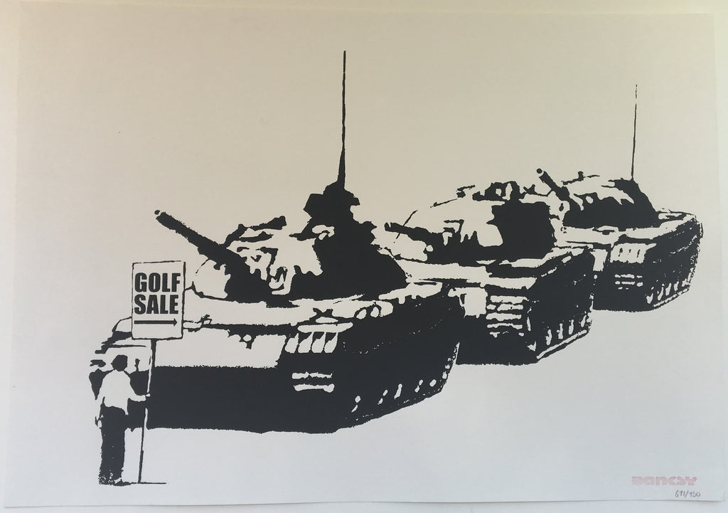 Banksy - Golf Sale - Unsigned Screenprint with COA