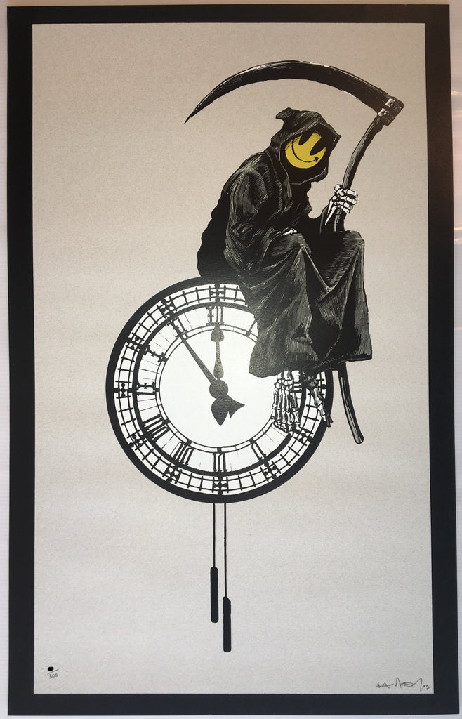 Banksy - Grin Reaper Signed Screenprint Pictures On Walls with COA