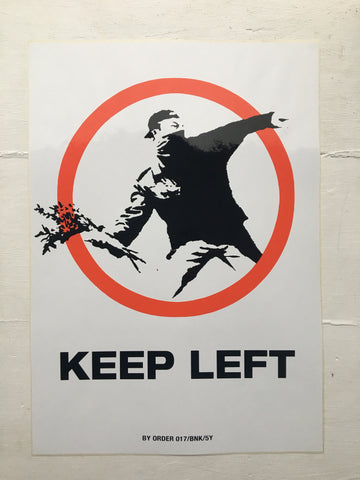 Banksy - Keep Left (XL Sticker)