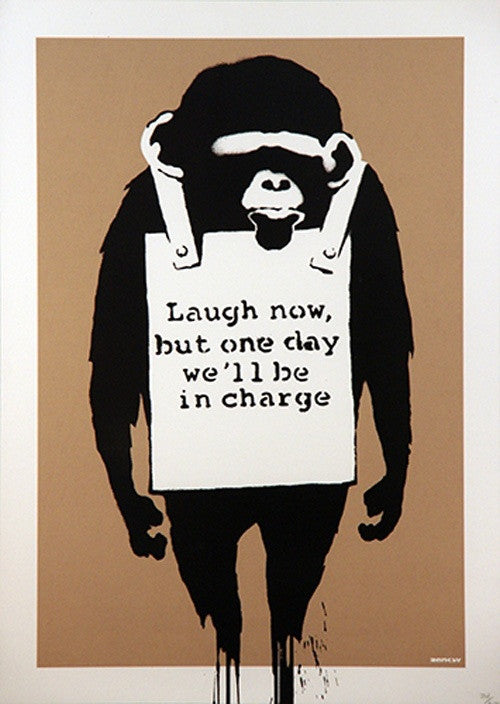 Banksy - Laugh Now - Signed Print / Screenprint
