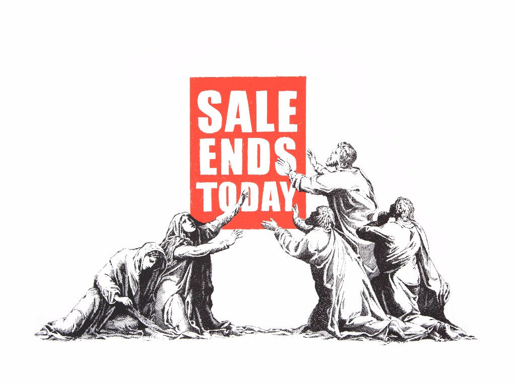 Banksy - Sale Ends v2.0 Signed Screenprint Pictures on Walls