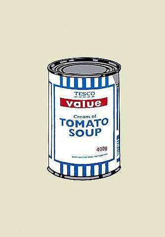 Banksy - Soup Can Unsigned Print / Screenprint with COA