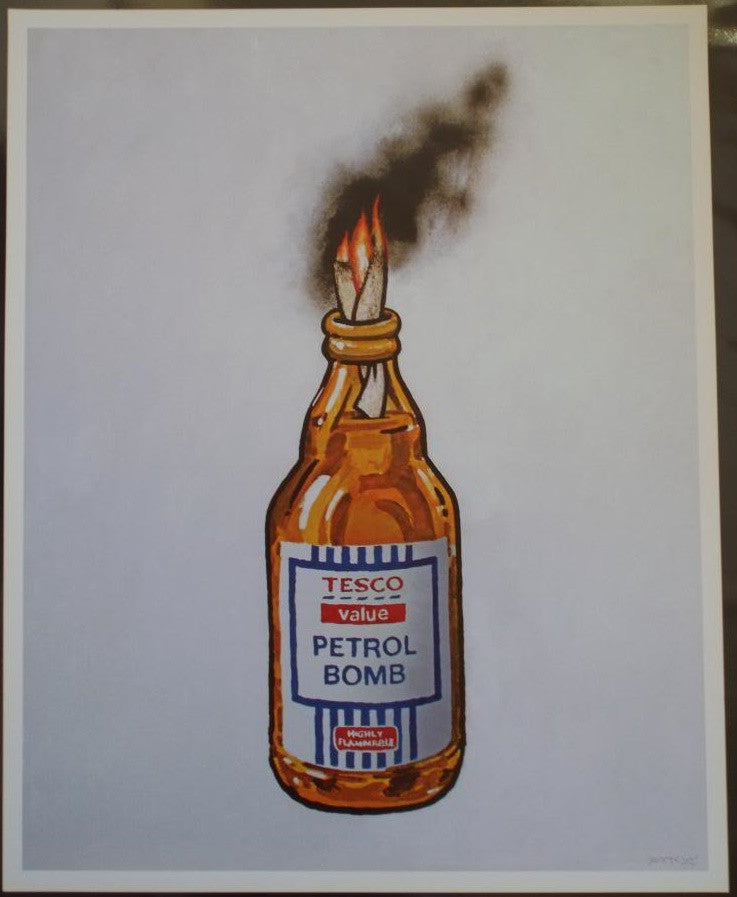 Banksy - Tesco Value Petrol Bomb Poster