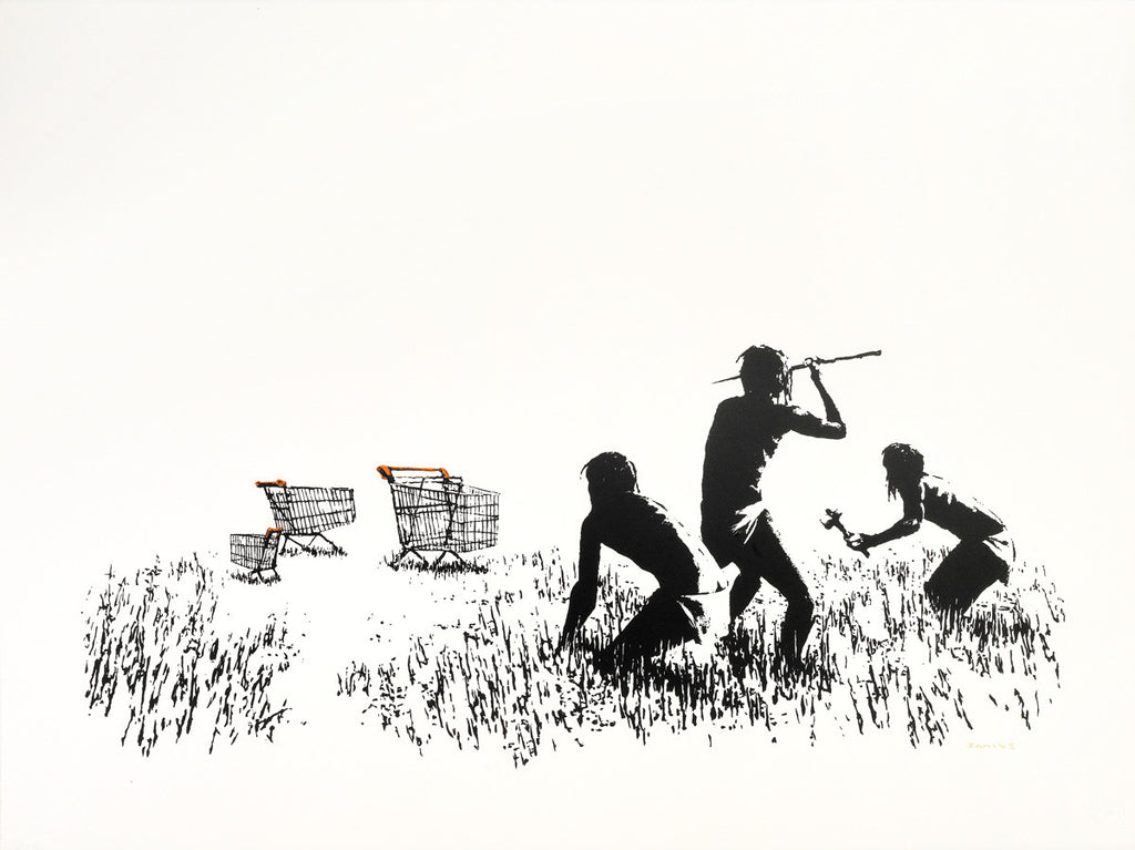 Banksy - Trolley Hunters / Trolleys Unsigned Screenprint