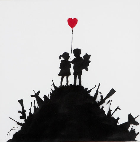 Banksy - Kids On Guns (Original Canvas)