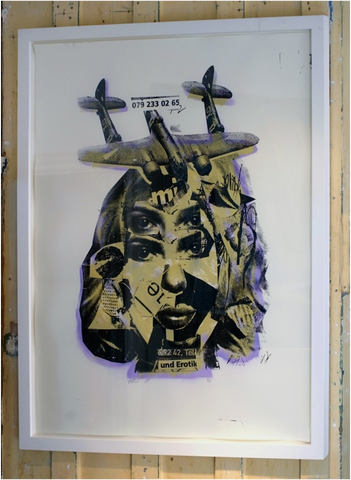 BAST - Und Erotik (Army Green & Lavender) (Huge & Framed!)