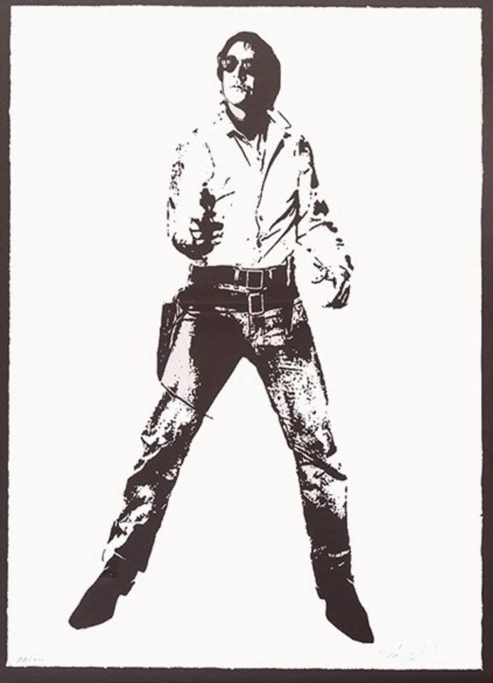 Blek Le Rat - Space Cowboy Print Screenprint Signed