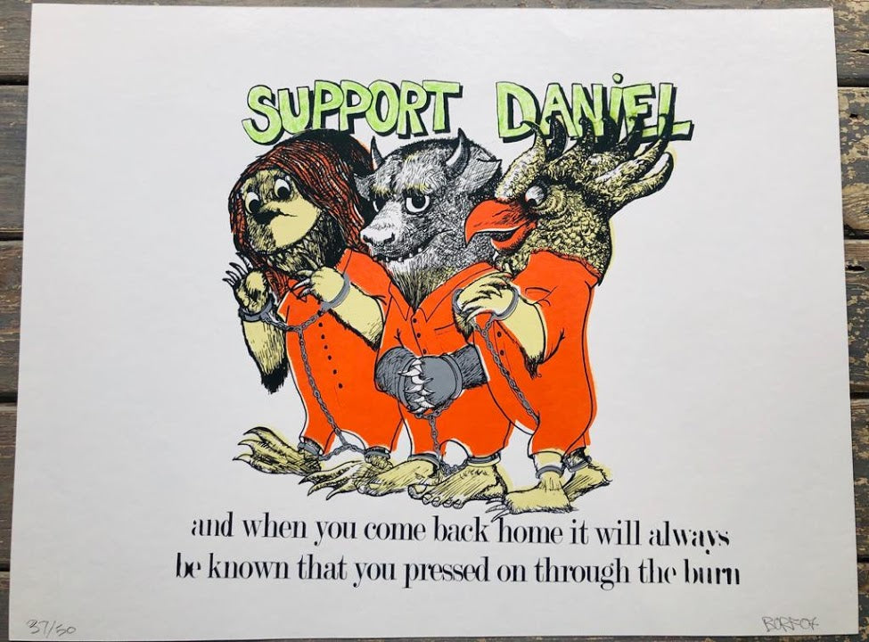 Borf-Support Daniel-Screenprint