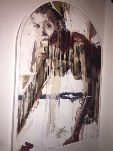 Borondo & Carmen Main - Untitled (Original Acrylic on Wood)