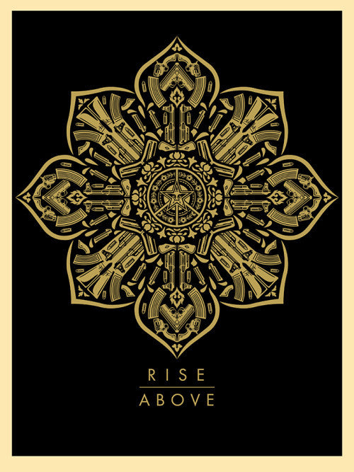 Shepard Fairey - Raise The Caliber - Rise Above - Signed Screenprint