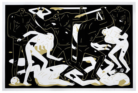 Cleon Peterson - Between Man & God (Black) (XL Print!)