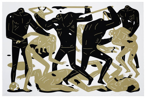 Cleon Peterson - Between Man & God (White) (XL Print!)
