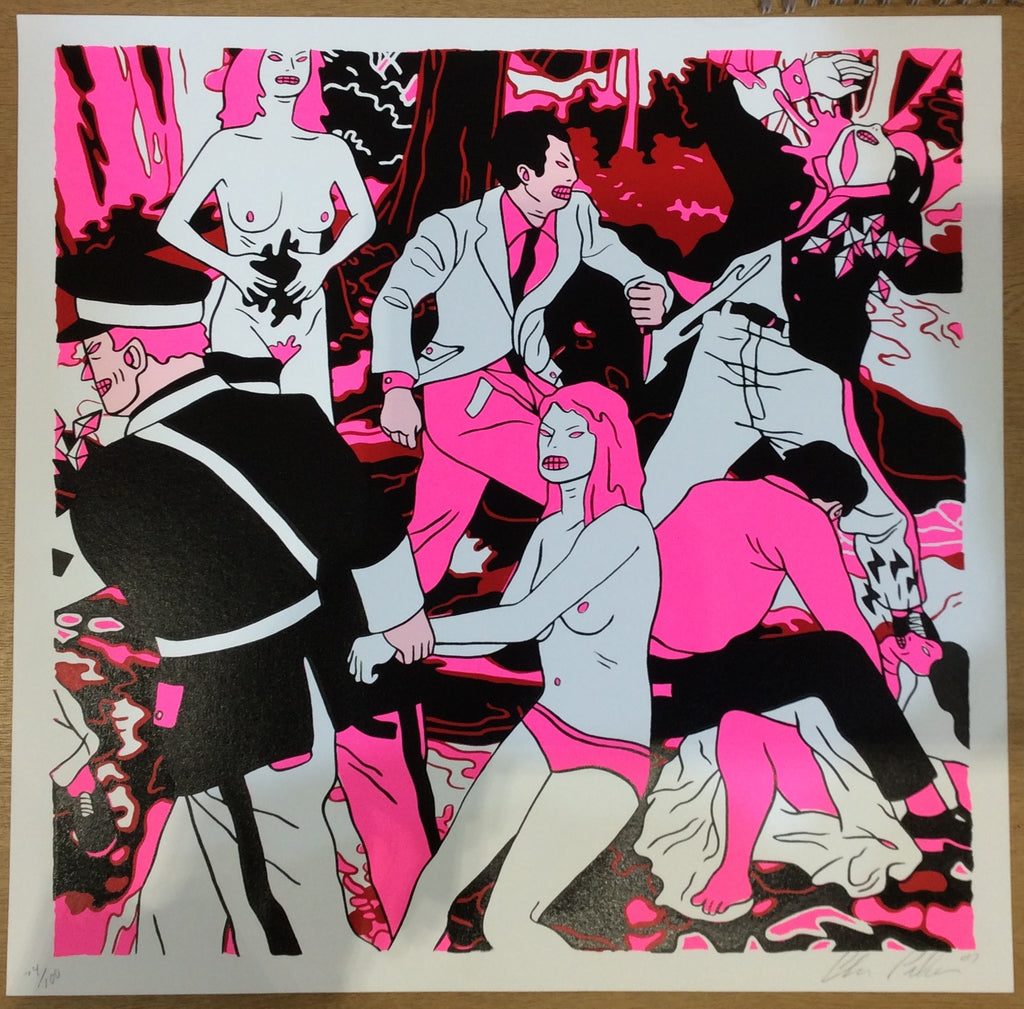 Cleon Peterson - Riot Screenprint Signed Print